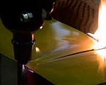 Plexiglas cutting with the T-3 plasma burner as part of the PLAZARIUM device, SP3/SP3A Model