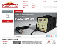 """Products"" on the new official website - www.plazarium.com"