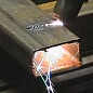 Cutting holes in steel