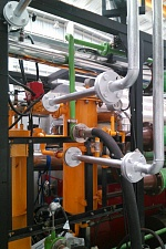 The system of output pyrolysis gas in to the plasma gasification unit and delivery of syngas for gas burner